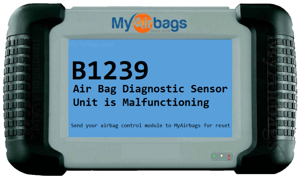 Myairbags Dtc Scan Code B1239 Air Bag